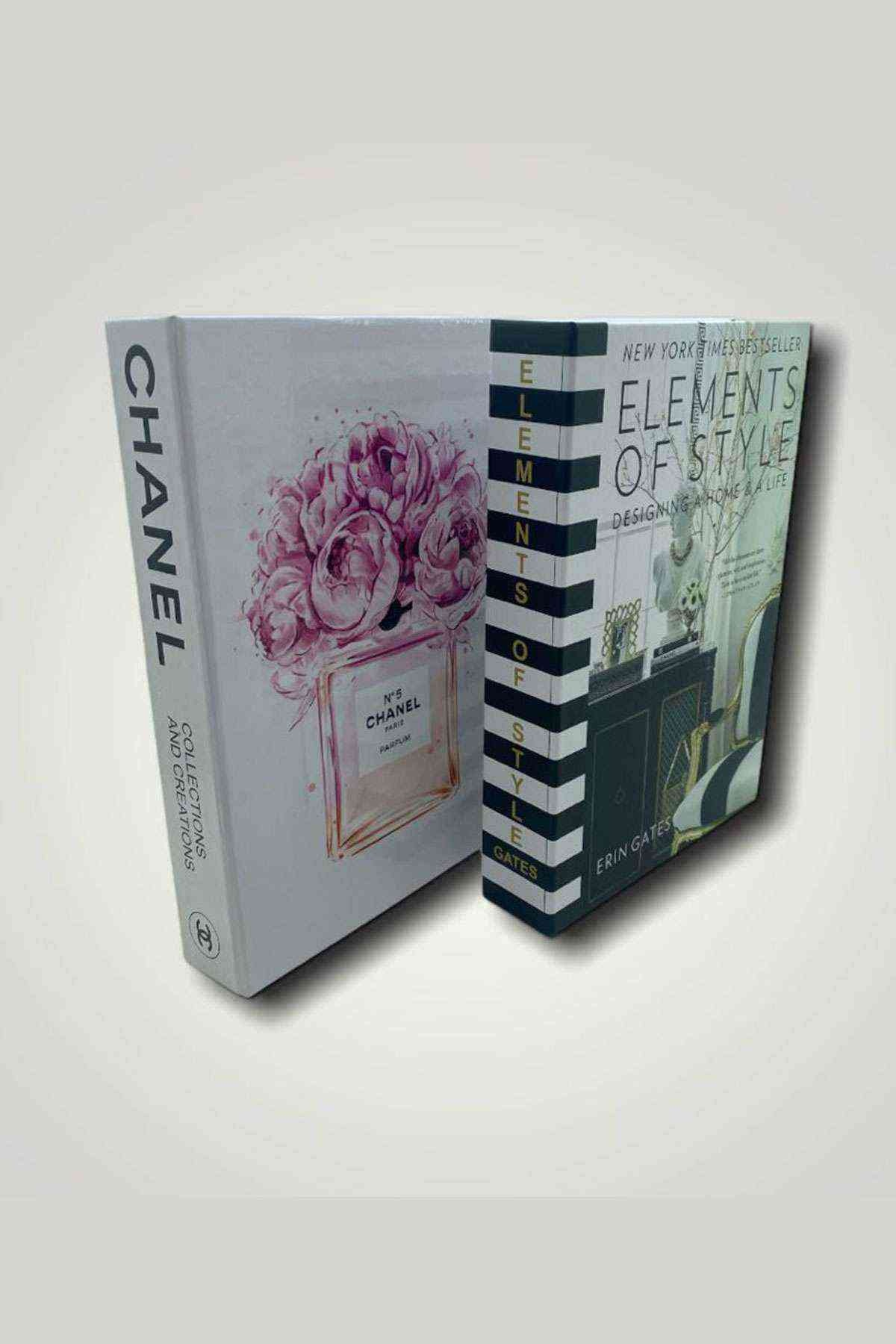 Chanel Elements Dekoratif 2li Kitap Kutusu Set