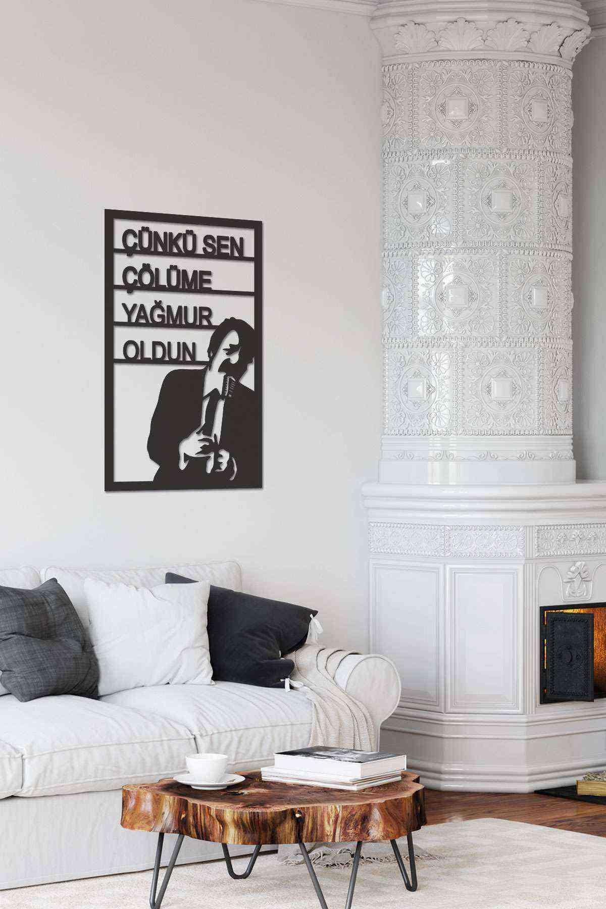 Müslüm Gürses Silüeti 3D Mdf Tablo Evinize Ofisinize Yeni Tarz