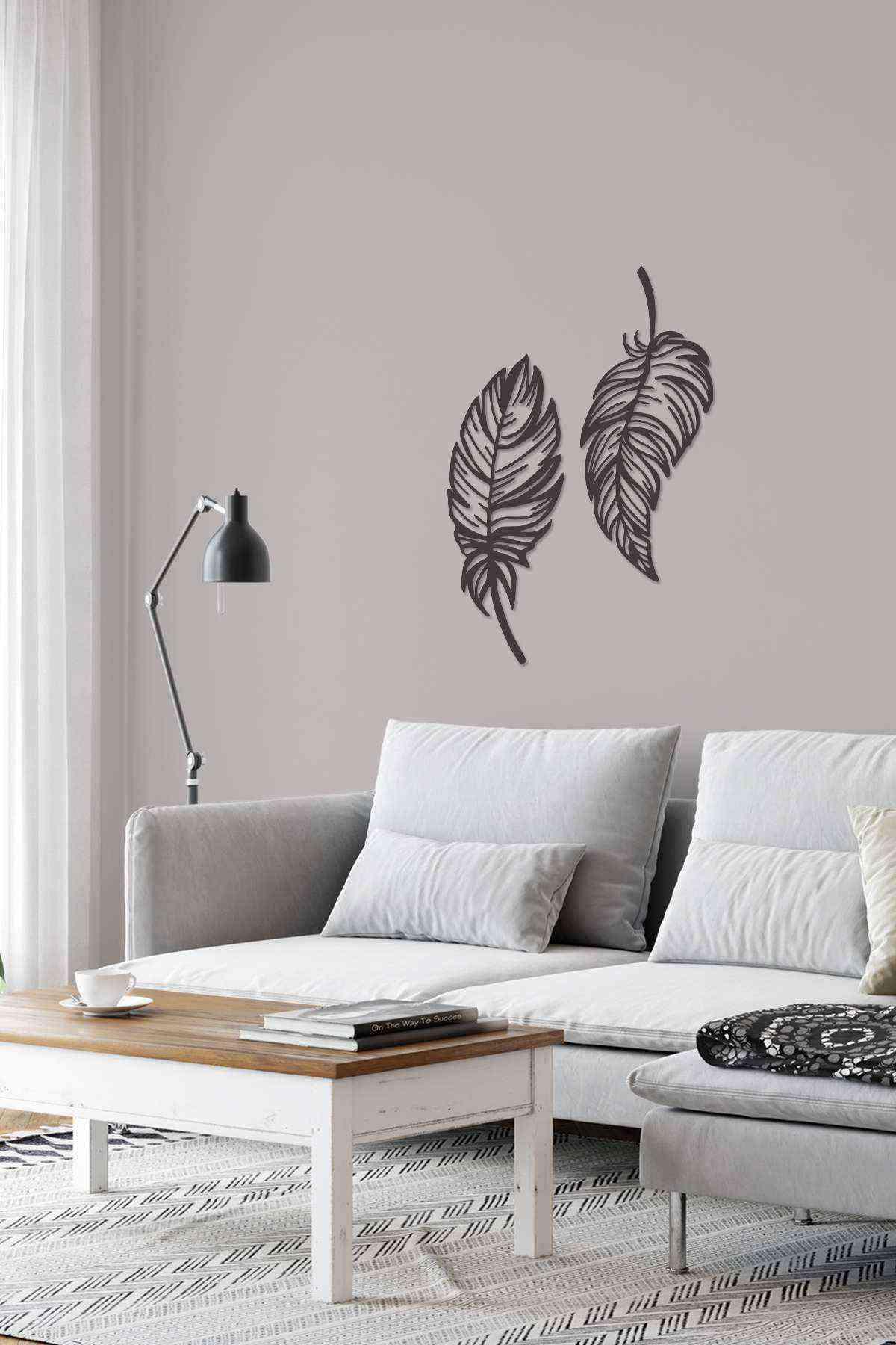 Yaprak Mdf Duvar Tablosu 50 cm